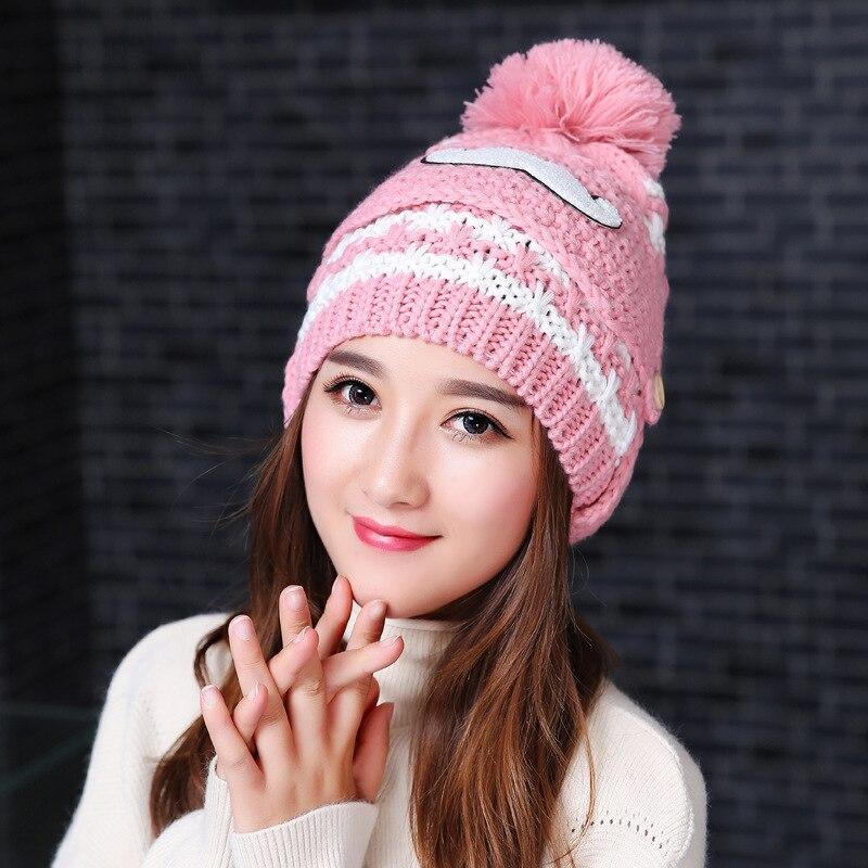 e05b2db05 2017 New Winter Cap Kids Cap Knitting Hats Snow Caps Outdoors Girls ...