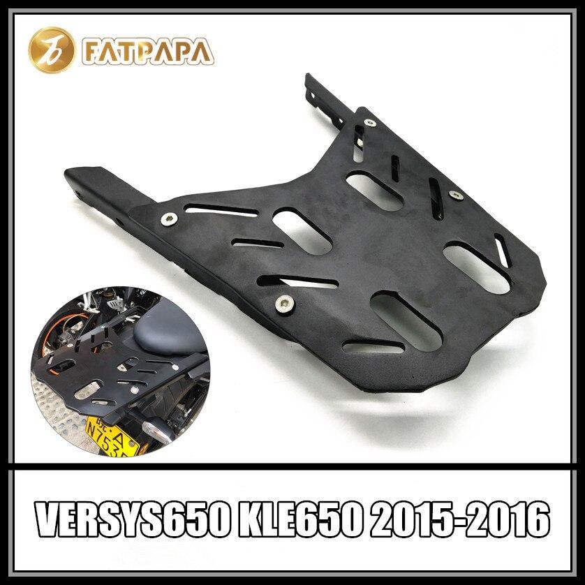 Moto Queue Porte-Bagages Arrière Cargo Soutien Holder Support Plateau Pour KAWASAKI VERSYS 650 KLE650 VERSYS650 2015 2016