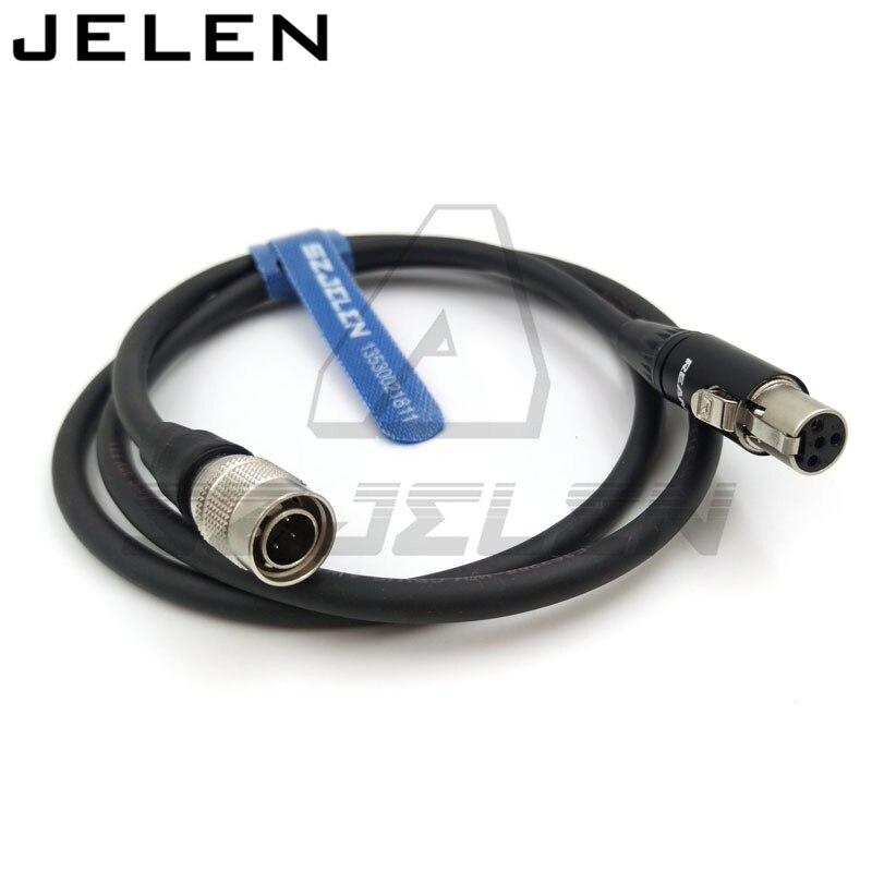 Sony camera Hirose 4 pin 12V Выходная мощность для mini xlr 4pin для TVlogic058 кабель питания для монитора