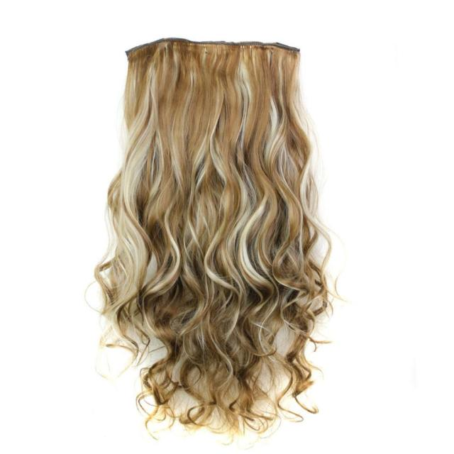 5Pcs Clip False Hair Synthetic Hair Extension  2