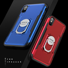 For iPhone X XS Max bracket phone case for 7 7P 8 8P two-in-one car fashion Multifunction protective