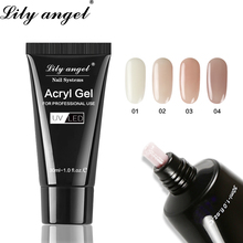Lily Angel 30ml Acrylic Gel Crystal Nail Poly 36 Colors Easy to Handle Quick-Drying Acryl for Extensions SJJ-1-36