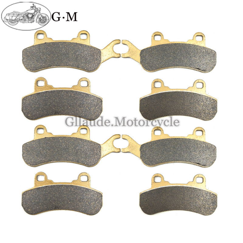 Motorcycle Front / Rear Brake Pads sets For UTV CAN Am Can am BRP Maverick X3 2017 2018 Ryker 600 Ace Ryker 900 Ace 2018 2019-in Brake Disks from Automobiles & Motorcycles    1