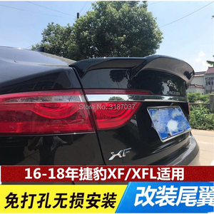 For Jaguar XF 2016- 2018ABS Plastic Black Carbon Color Rear Roof Spoiler Wing Trunk Lip Boot Cover Car Styling(China)