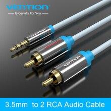 Vention rca разъем для кабеля 2rca мужской до 3.5 мужской аудио кабель 1 м 2 м 3 м 5 м aux кабель для edifer домашнего кинотеатра dvd vcd iphone наушники