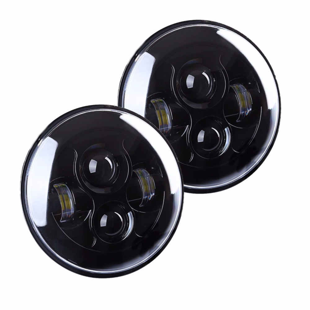 For Jeep JK 7 Round Headlight Led For Jeep Wrangler 97-15 Hummer Toyota Defender 7 LED Harley Motorcycle Headlamp For Harley