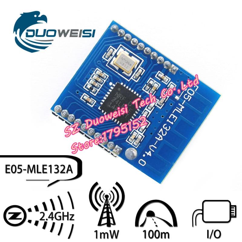 E05-MLE132A nRF24LE1 wireless module / digital transmission module / nRF24L01 + MCU / Active RFID / wireless microcontroller freeshipping rs232 to zigbee wireless module 1 6km cc2530 chip