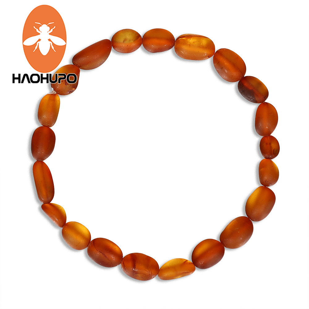 Hao Hu Po Classic Amber Bracelets Original Baltic Amber Raw Baroque Beads Teething Necklace for Unisex Supply GIC Certificate in Bracelets Bangles from Jewelry Accessories