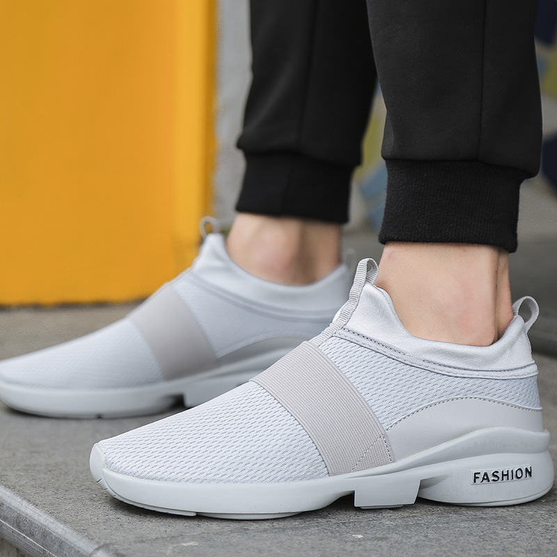 Air Mesh Slip-on Comfortable 4 Colors Running Shoes Elastic fabric Slip-on Breathable Summer Wearbale Men Shoes