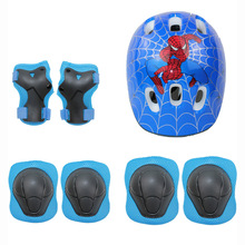 Childrens Protectors Helmet Knee Elbow Protector Car Wheel-pulley Bicycle Balance 7 sets