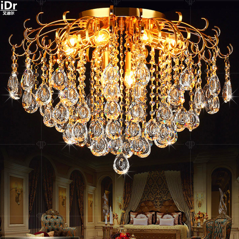 k9 crystal lamps dual lamp Jane European creative living room lamp bedroom lamp lighting restaurant gold Chandeliers Lmy-0242 jane european pastoral creative lighting restaurant lamp bedroom balcony living room ceiling lighting hanging iron
