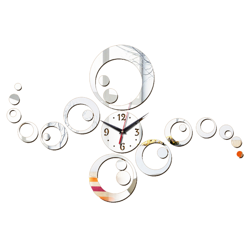 New Acrylic Wall Sticker Clock Home Decor 3d Mirror Surface Stickers Adesivo De Parede For Living