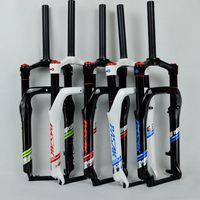 Зимние MTB Маутейн велосипед 20 дюймов Вилы жира Велосипедная вилка Air газа блокировки подвеска Вилки 4.0 шин 135 мм