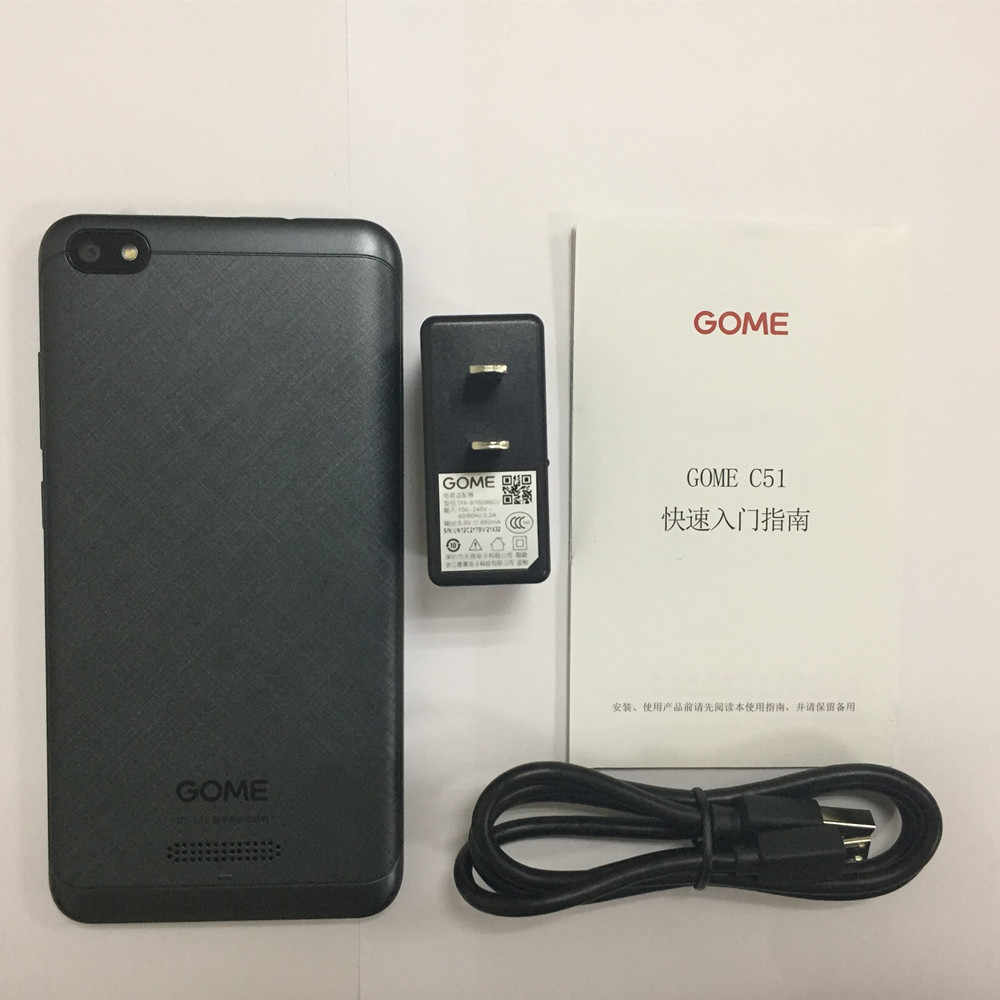 GOME C51 4G هاتف LTE الذكي 2G RAM 16G ROM 5.0 بوصة MSM8909 رباعية النواة 5.0MP + 2.0MP أندرويد 7.1 2000mAh بطارية الهاتف المحمول