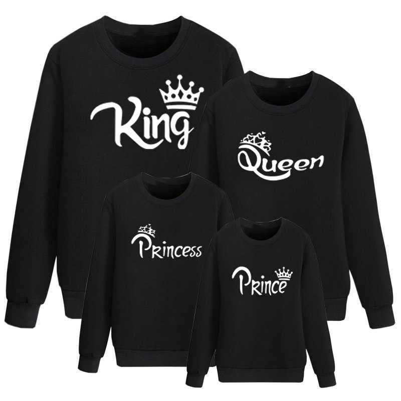 ad8b7e1ca6 ... 01 King Queen. RELATED PRODUCTS. Family Matching Clothes Outfits Look  Father Mother Daughter Son Crown T shirt Clothing Daddy Mommy Me