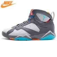 Nike Air Jordan 7 AJ7 Джо 7 Nike Барселона Бобкэтс Для Мужчин's Баскетбольные кеды Спортивная обувь, оригинальный амортизирующие Обувь 304775 016