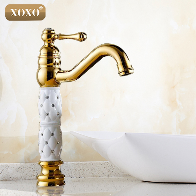XOOX Bathroom Basin Gold Faucet Brass With Diamond/Crystal Body TaLuxury Single Handle Hot And Cold Tap 50045GT-1 pastoralism and agriculture pennar basin india