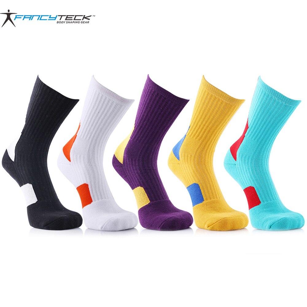 5 Pair Fashion Colorful Mens Socks Stitching Pattern Compression Socks Terry Towel Socks Men Socks