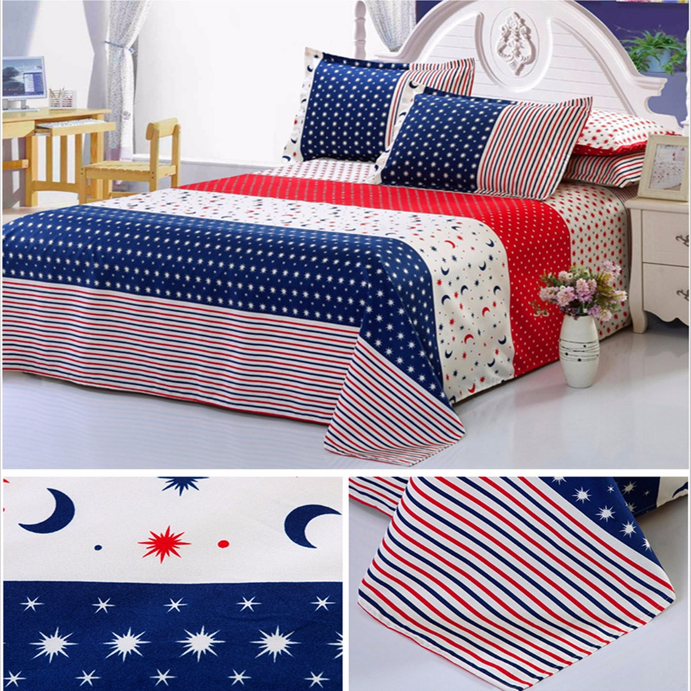 Creative bed sheets - 2016 Hot Sale 15 Colors Cotton Bed Sheets Set 1 Piece Queen Size Full Size Creative Flower Style Fitted Sheet Home Decor Textile
