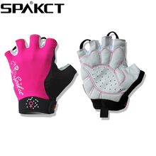 SPAKCT Women s Cycling Short Finger Half Finger font b Gloves b font Simple Love 3