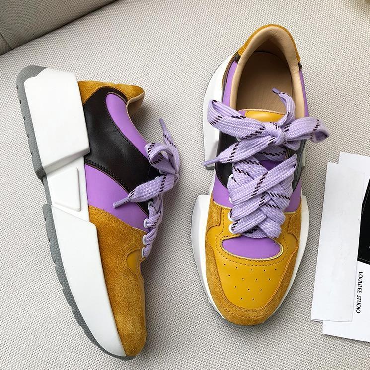 Csaual Pic Chaussures Zapatillas Las Color Gruesa Zapatos Primavera Plataforma Mujeres Mezclado Pic Cuero De Otoño as Suela Mujer As U5w6xqz