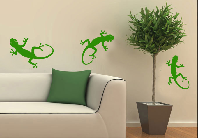 dctop gekkonidae lagarto de la pared letras transprent impermeable decoracin diy nio wallpaper calcomanas arte d