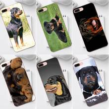Soft TPU Mobile Case Rottweiler Dog Puppies For iPhone 4 4S 5 5C SE 6 6S 7 8 Plus X XS Max XR Galaxy A3 A5 J1 J3 J5 J7 2017(China)