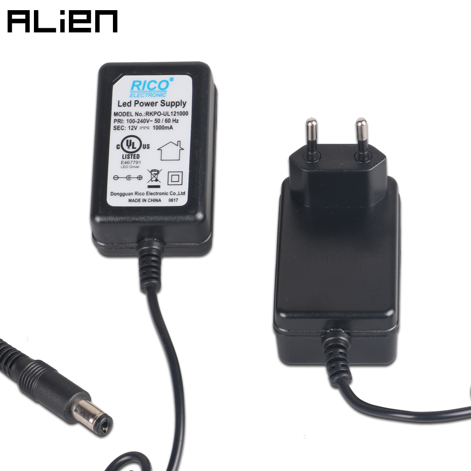 ALIEN DC 12V 1A Power Supply US AU UK EU Plug Adapter Cord for ALIEN Indoor Laser Stage Lights D R Series Interface 5.5 * 2.5 mm|Stage Lighting Effect| |  - title=