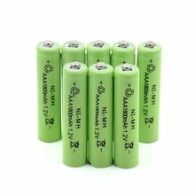 купить Free shipping TBUOTZO 10PCS Ni-MH 1.2V AAA Rechargeable 1800mAh 3A Neutral Battery Rechargeable battery ,Free shipping недорого