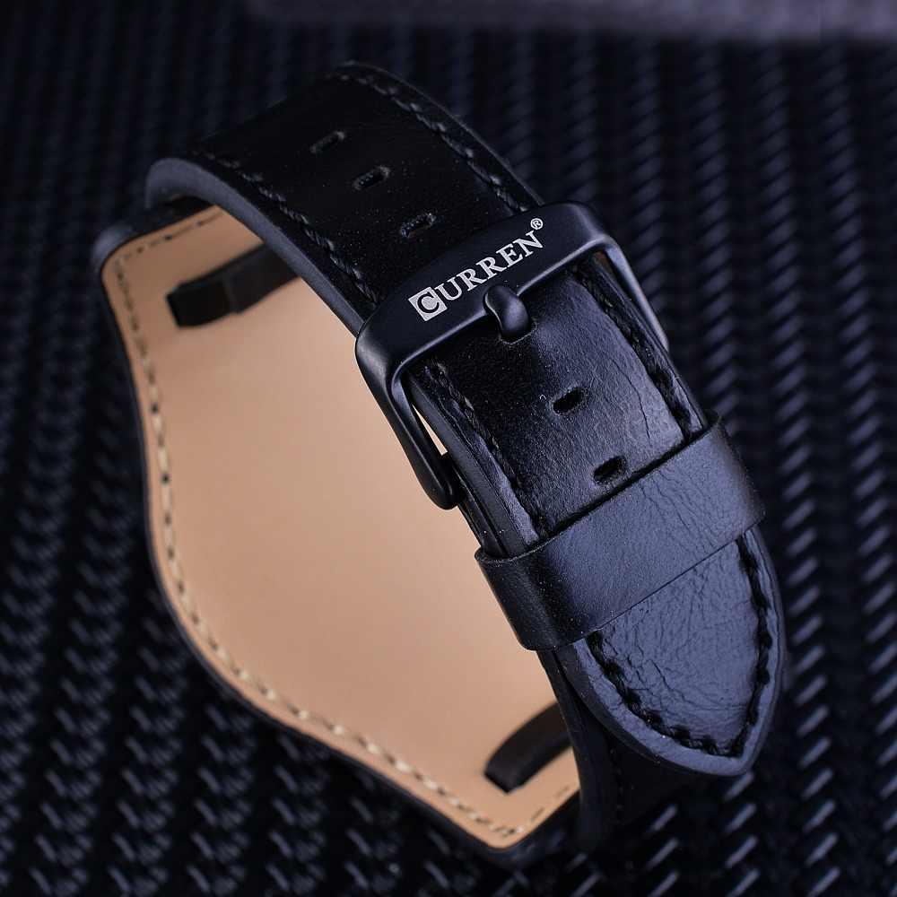 C URRENหนังแท้สีดำสีฟ้าแก้วทหารปฏิทินบุรุษS Protข้อมือยอดนาฬิกาแบรนด์หรูชายกองทัพนาฬิกาชายนาฬิกา