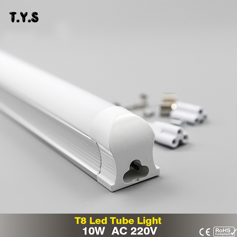 LED Tube light T8 10w 600mm 220v milky cover Cold White SMD2835 led Fluorescent Lights T8 Tube led energy saving lamp neon PVC brightinwd epistar led s19 smd2835 linestra lampada led fluorescent tube 310mm 7w 220v 110v osram rohs led energy saving lamp