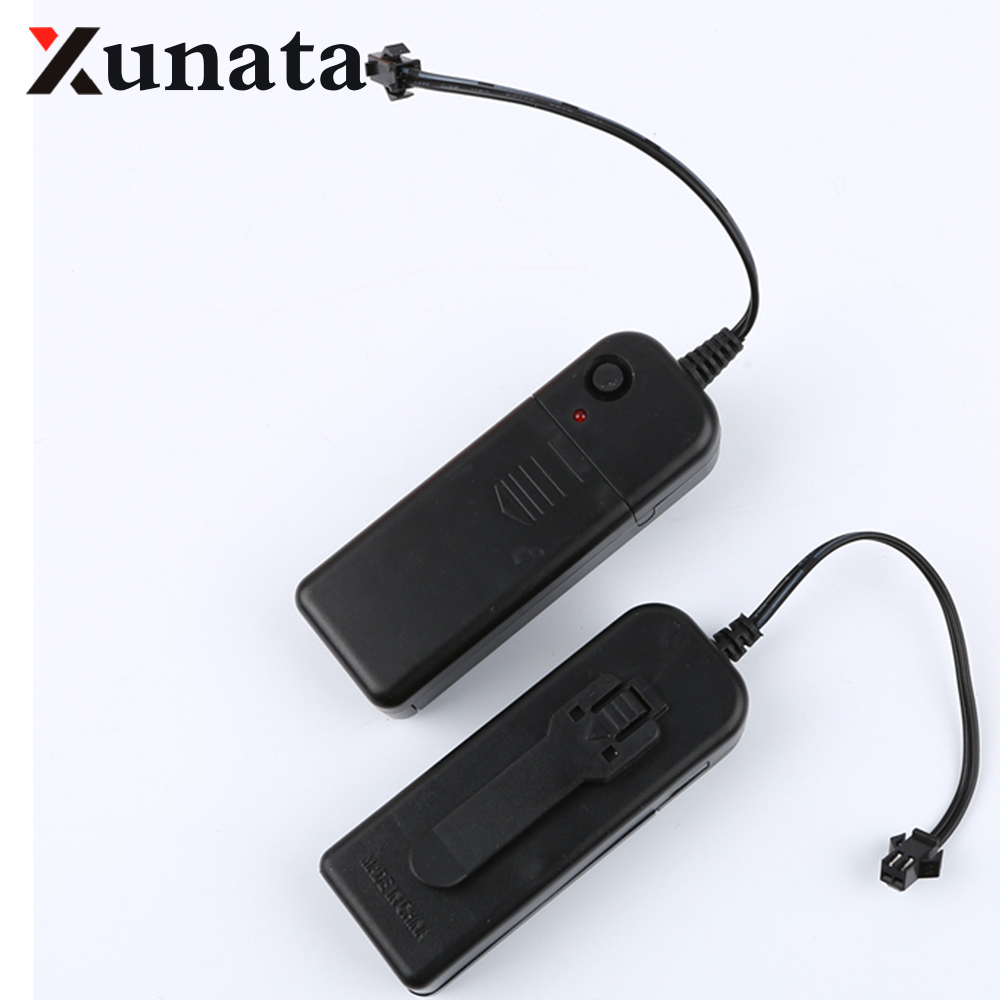 2 - AA 3V Battery Case Box Driver Inverter For 1m 3m 5m Flexible Led Glow EL Wire Tape 1PC/LOT