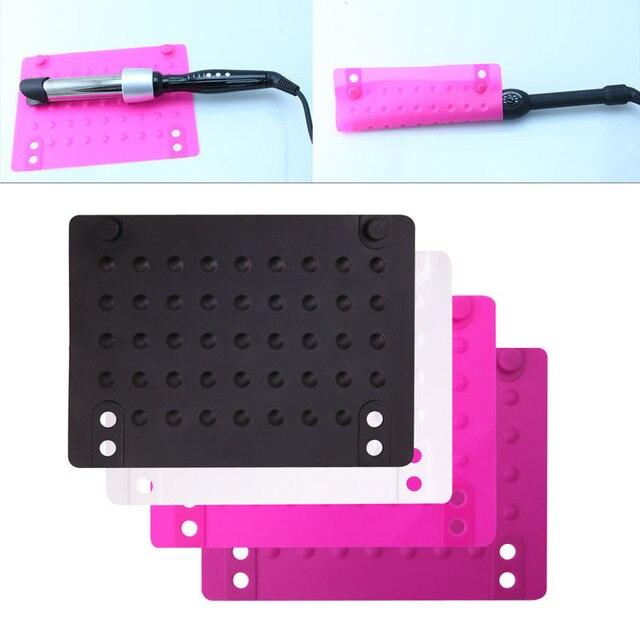 1 шт. силиконовый теплоизоляция выпрямитель для волос аксессуары для завивки прочный розовый/черный/белый/ярко-розовый