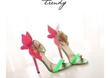 Neue 2013 Frauen Sandalen Pumps Mit Knöchelriemen Hochzeit High Heels Bunter Schmetterling Flache Bogen Patry Schuhe brautpumpen