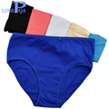 Lobbpaja marca lote 6 unids mujer underwear bragas íntimos bragas de algodón calzoncillos de cintura alta de las señoras madres más tamaño para las mujeres