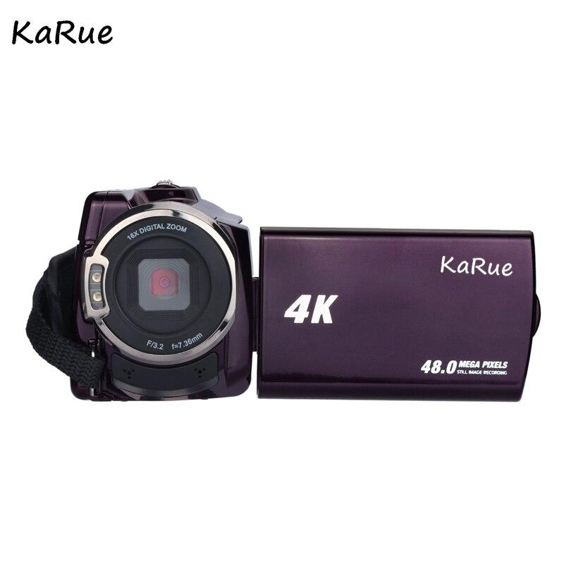Хит, 4 К видеокамера Камера видеокамер Ultra HD цифровой Камера s Video Регистраторы с Wi Fi/инфракрасный сенсорный экран