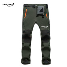 2016 Men Outdoor Sport Windproof Climbing Waterproof Hiking Snowboard Cycling Hunting Camping Softshell Pants Pants