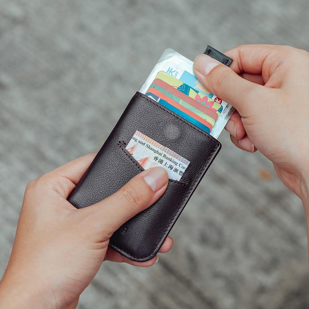 Schlanke Brieftaschen für Männer Frauen Echtes Leder Geldbörsen Kurz ...