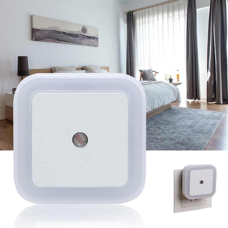 Hoomall ЕС/США Plug управление световым датчиком светодиодный ночник мини Новинка квадратная спальня настенный светильник для детей Авто вкл./выкл.