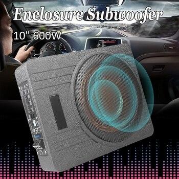 10 Inch 600W Car Under Seat  Subwoofer Speaker Vehicle Super Slim Active Subwoofer Sub Amplifier Auto  Enclosed Subwoofer System subwoofer