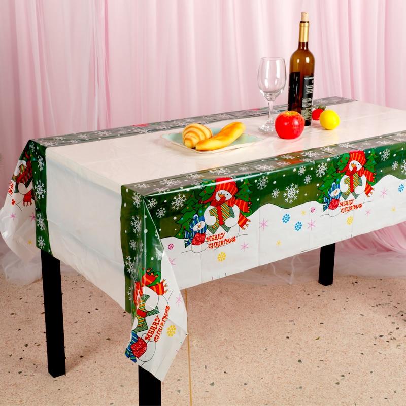 Frugale Tovaglia Di Natale Del Partito Di Tabella Del Pvc Di Coperture Nuovo Anno A Casa Da Cucina Tavolo Da Pranzo Decorazioni Di Natale Decorazioni Per La Casa Di Natale