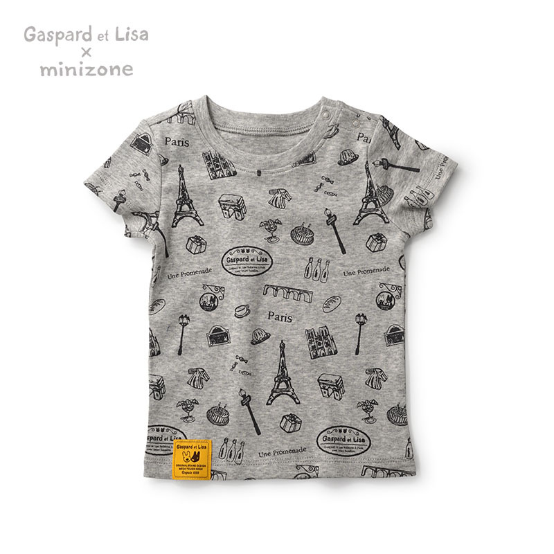High Quality Gaspard et Lisa Cotton Baby Boy Tshirt Girl Shirt Short Sleeve Baby Top Newborn Tees T-Shirt