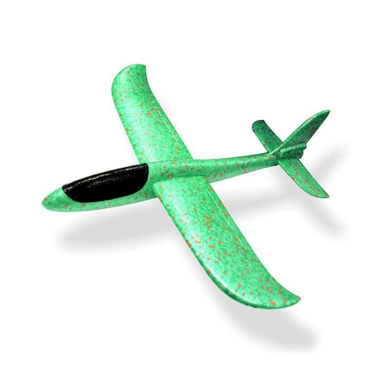 Ручной бросок Летающий планер самолеты пенопластовый самолет модель EPP устойчив к прорыву самолет Вечерние игры дети открытый Забавный подарок игрушки - Цвет: Aircraft Model