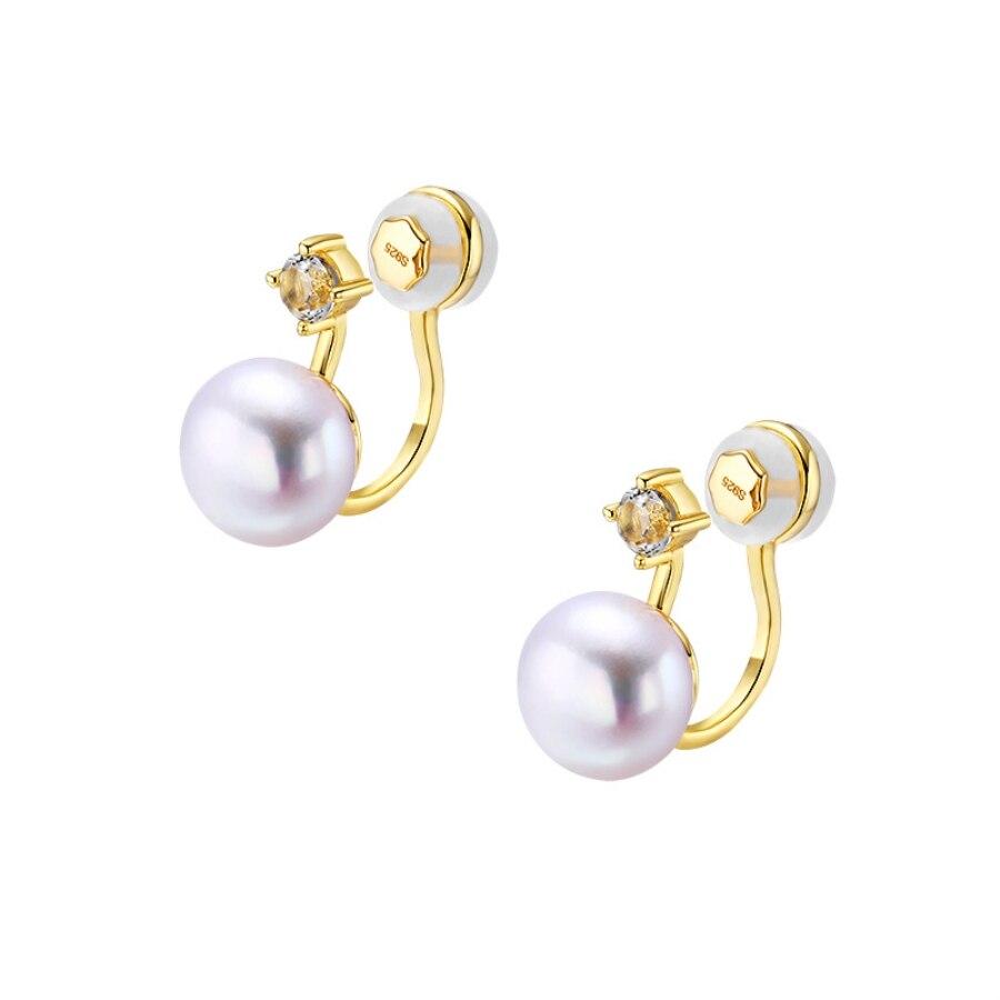 Women Pearl Ear Cuff 14K Gold Clip on Earrings Without Piercing 14K Gold Jewelry Female Earring Cuffs Hook No Hole