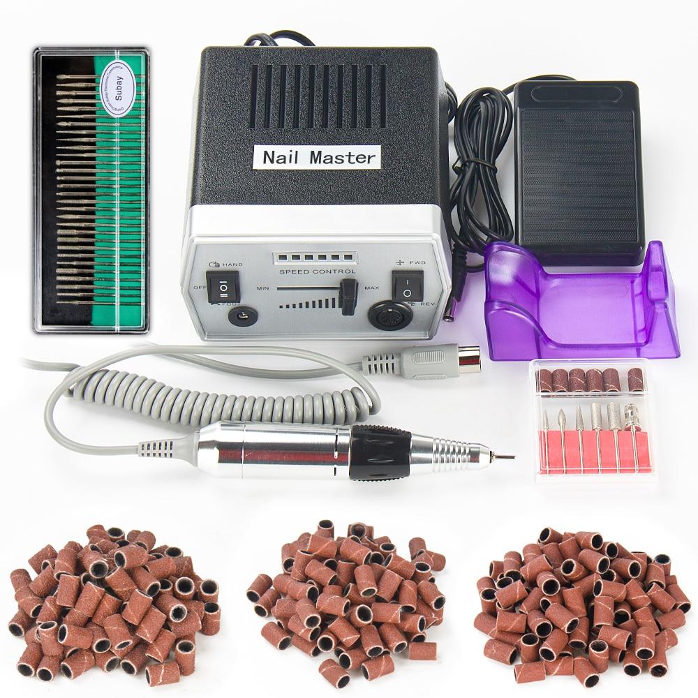 30000 RPM Nero Pro Electric Nail Art Drill Macchina Attrezzature ...