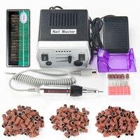30000 RPM Pro Preto Equipamentos de Manicure Pedicure Arquivos Electric Nail Art Máquina Da Broca Do Prego Manicure Elétrica Broca & Acessório