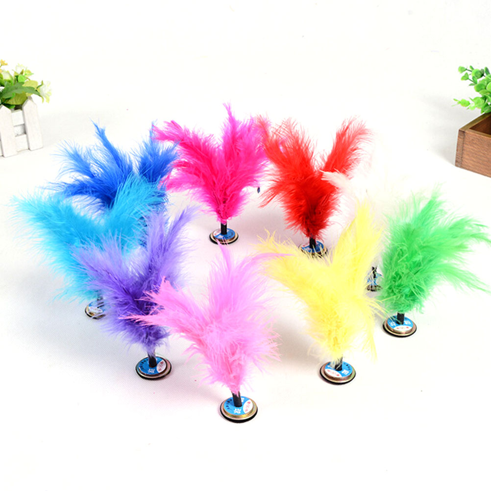 1pc Sport Kick Shuttlecock Chinese Traditional Sport Jianzi Toy Play Exercise Leg Muscle Strength And Body Flexibility