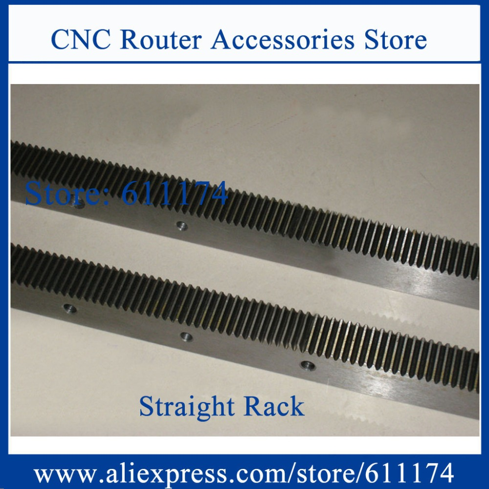 High precision Module 2 Straight gear rack and pinion, Rack rail size 25*25*1200mm Precision C7 rack and gear