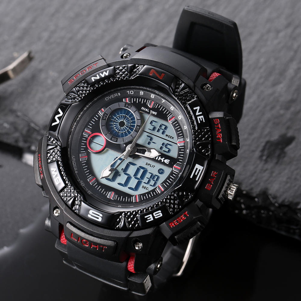 ALIKE Relogio Masculino Waterproof Outdoor Sports G Style Shock Watches Men Quartz Hours Digital Watch Military LED Wrist Watch
