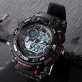 GLEICHERMAßEN Relogio Masculino Wasserdichten Outdoor Sport G Stil Schock Uhren Männer Quarz Stunden Digitaluhr Military LED Armbanduhr-in Quarz-Uhren aus Uhren bei